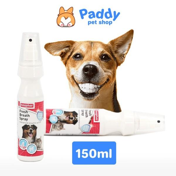 Xịt Vệ Sinh Răng Miệng Cho Chó Mèo Beaphar Fresh Breath Spray Dog And Cat 150ml