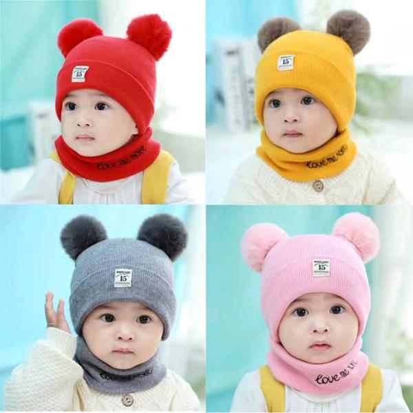 [ CÓ ẢNH THẬT] Set mũ kèm khăn quàng cổ cho bé trai, bé gái, set khăn mũ len cho các bé từ 6 tháng đên 24 tháng, nón kèm khăn len cho các bé siêu xinh xắn, chất liệu ấm áp, không xù lông, màu sắc tươi sáng