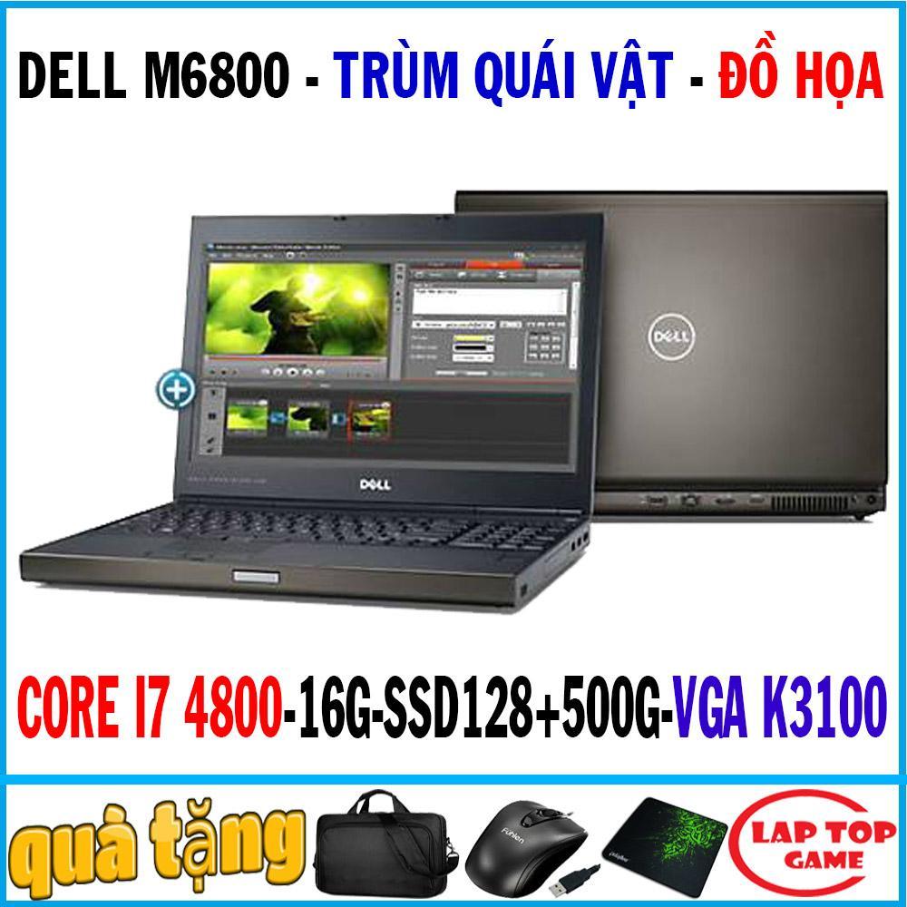 Coupon tại Lazada cho Laptop Dell Precision M6800 - Trùm đồ Họa Nặng Core I7-4800QM/ 16G/ SSD128G+500G/ VGA K3100M 4G , 17.3″ Full HD 1920*1080/ Trùm đồ Họa