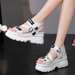 (Video 2 màu) Sandal nữ,sandal học sinh độn đế 5p fashion kiểu dáng mới siêu đẹp 3