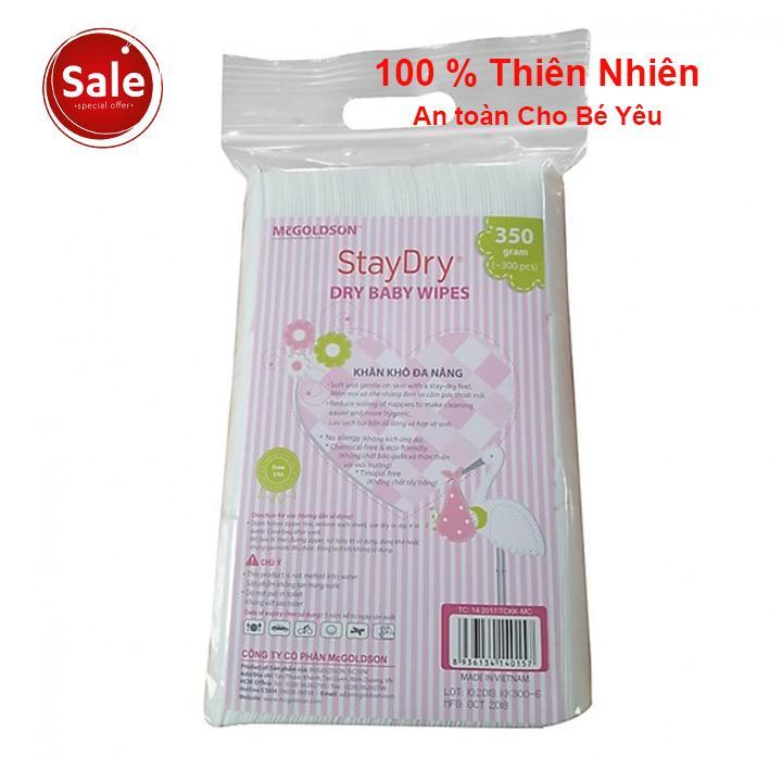 Mã Khuyến Mại Combo 2 Gói Khăn Vải Khô đa Năng Cao Cấp Staydry 350g-AN TOÀN 100% CHO BÉ
