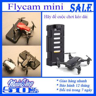Flycam mini, flycam, Máy bay drone mini có camera HD wifi - Flycam mini động cơ khỏe giá tốt chất lượng SF-806 pro quay phim, chụp ảnh, chống rung quang học kết nối wifi có tay cầm điều khiển[ Tặng 3 pin AAA có video thực tế] thumbnail