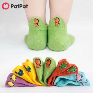 05 đôi tất PatPat thêu hình khủng long đáng yêu chất liệu cotton thoáng mát dành cho trẻ em/trẻ mới biết đi-Z - INTL