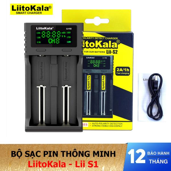 Bộ sạc pin thông minh 2 cổng LiitoKala Lii-S2 - Sạc pin đa năng - Hàng chính hãng - Lii-S2