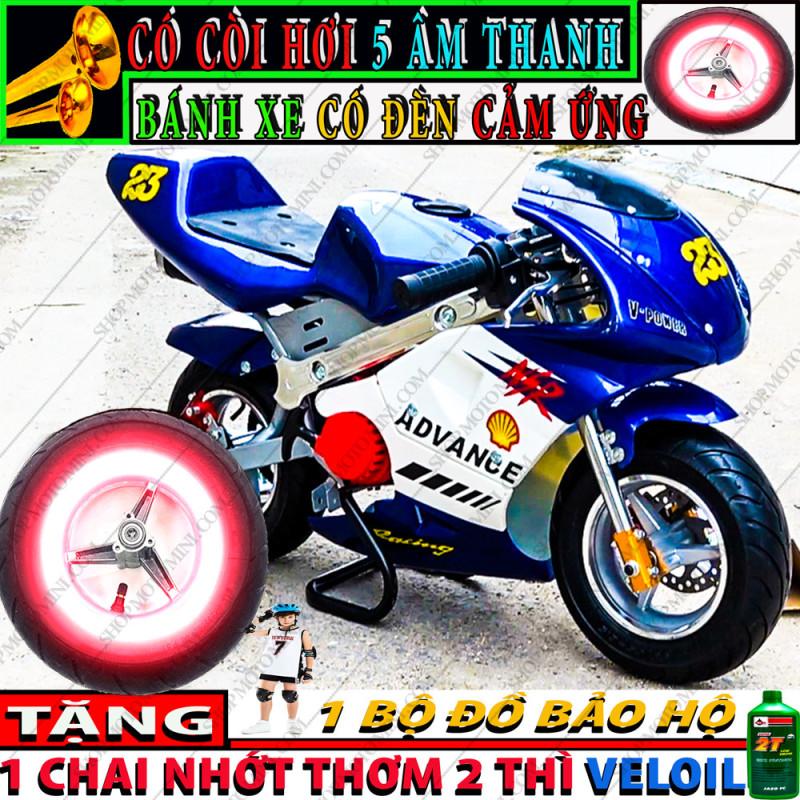 Phân phối Xe moto mini 50cc có đèn cảm ứng, có còi 5 tiếng   Bán xe ruồi Tam mao gắn máy cắt cỏ