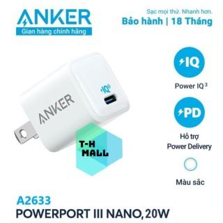 Combo Anker 20W cốc sạc nhanh A2633 cổng Type C + cáp sạc nhanh MFI iphone lightning Doraemon thumbnail