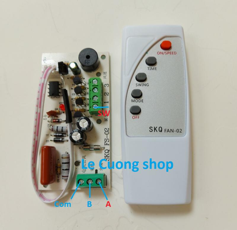 Bộ  điều khiển từ xa SKQ-02 biến quạt thường thành quạt điều khiển từ xa, mạch điều khiển từ xa cho quạt