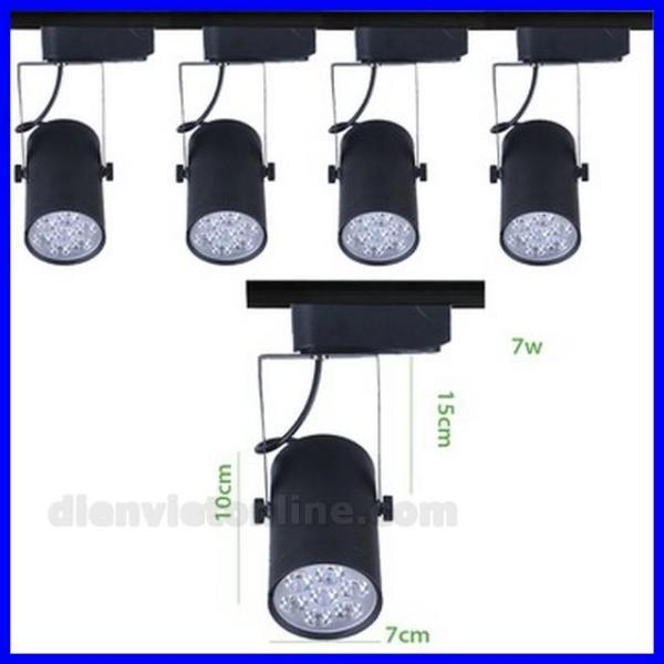 Bộ 3 đèn pha ray 7W + 1 thanh ray 1M cao cấp ( màu Đen ) - Điện Việt