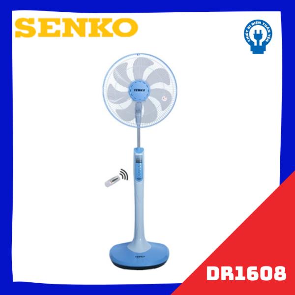 Quạt đứng remote Senko DR1608 F23 sải cánh 39cm 65W (hẹn giờ, điều chỉnh gió) - Giao màu ngẫu nhiên