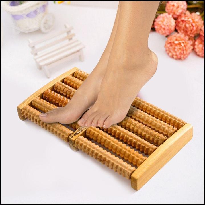 Bàn massage chân bằng gỗ cao cấp – Dụng cụ chăm sóc sức khoẻ chống mỏi, đau nhức, matxa chân lưu thông huyệt đạo cao cấp