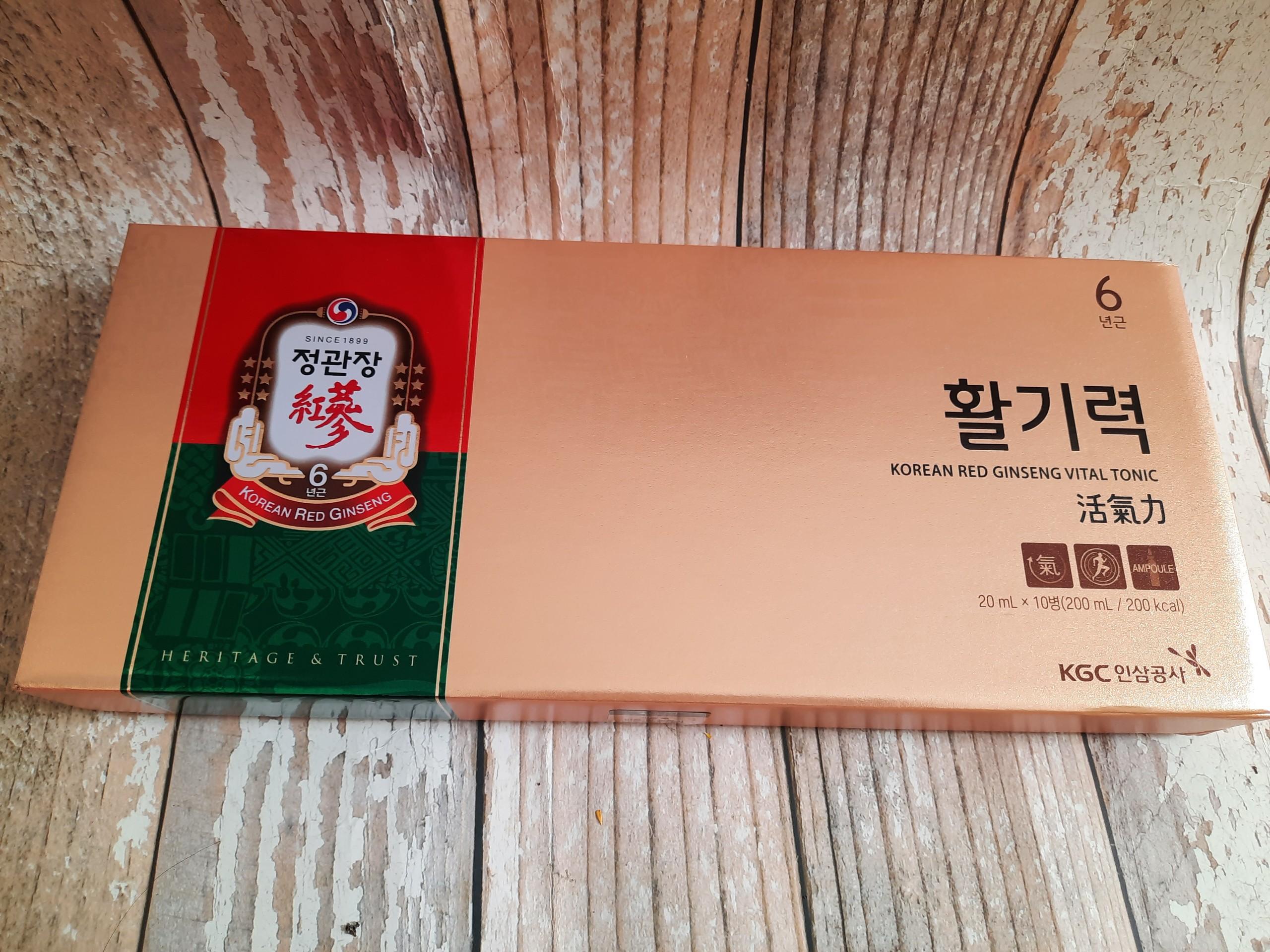 Nuớc hồng sâm Vital Tonic KGC ( Korea Red Ginseng Vital Tonic) Cheong Kwan Jang 10 ống x 20ml