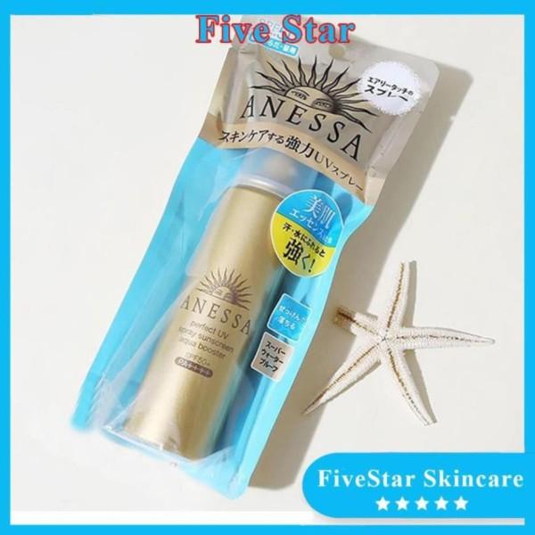 Xịt chống nắng Anessa perfect UV Spray Sunscreen Aqua Boster 60g Nhật Bản