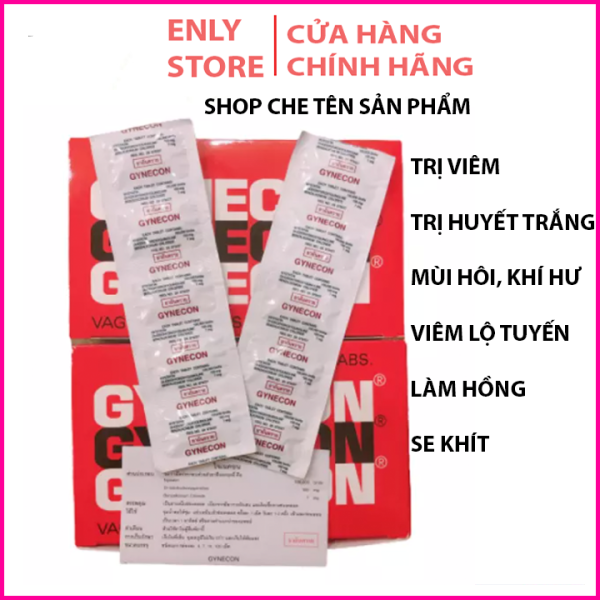 2 Vỉ Viên Đặt Phụ Khoa Gynecon Thái Lan Chính Hãng- Vỉ 5 viên giá rẻ