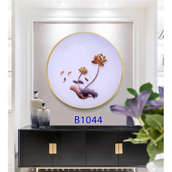 Tranh đèn Led 3 chế độ ánh sáng·5d hình tròn gắn tường trang trí phòng khách, phòng ngủ phong cách châu Âu - Phương Anh