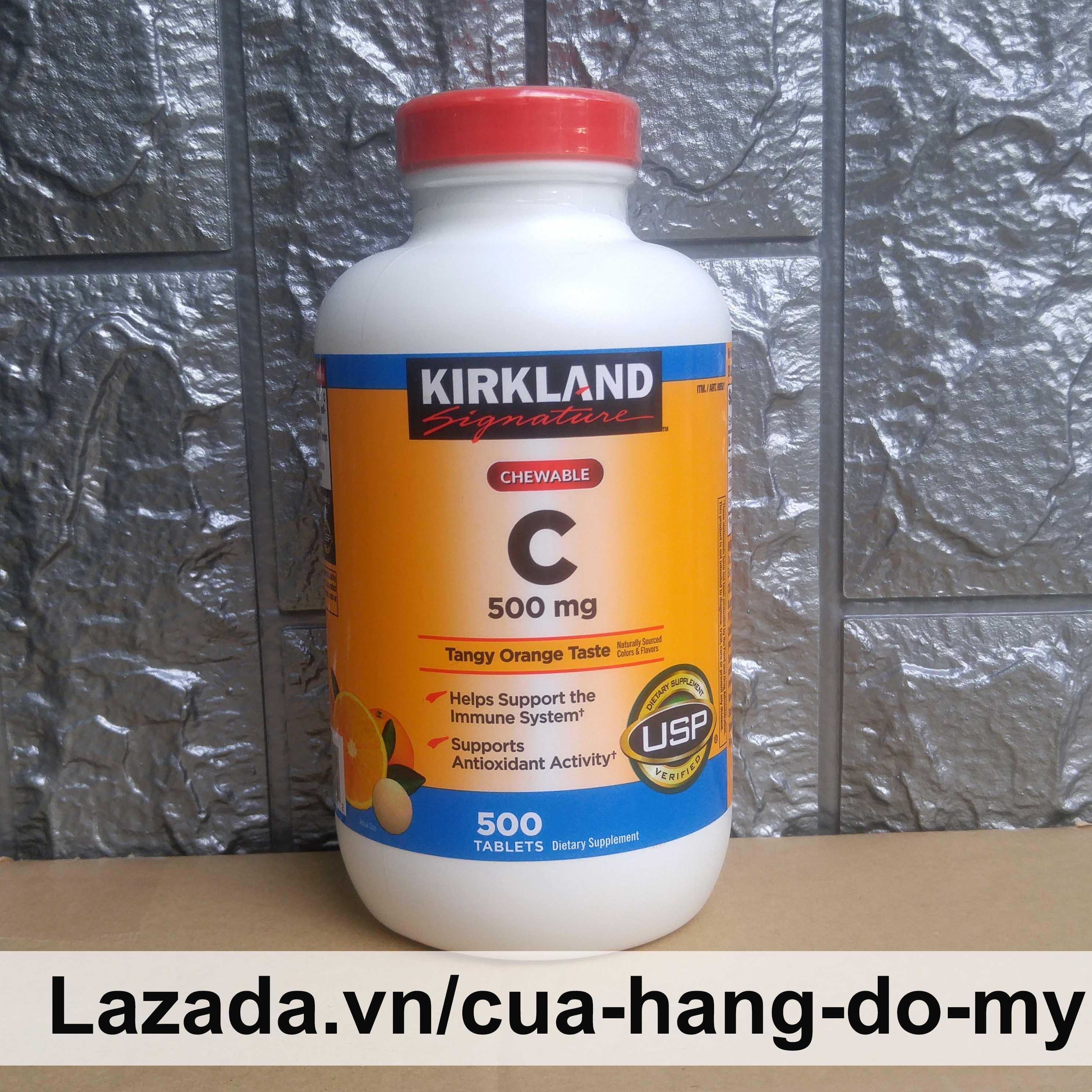 Viên kẹo ngậm Vitamin C 500 mg Kirkland Hộp 500 Viên