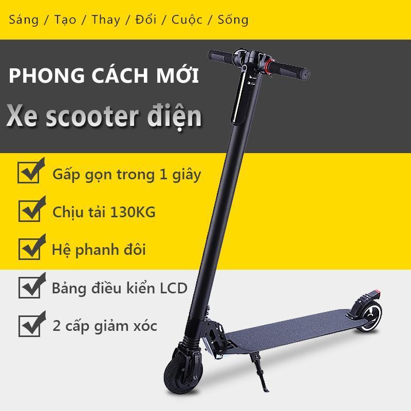 Giá bán Xe Scooter xe trượt điện mini có thể gấp thanh thiếu niên nam nữ đi làm đi học tiện lợi Redepshop