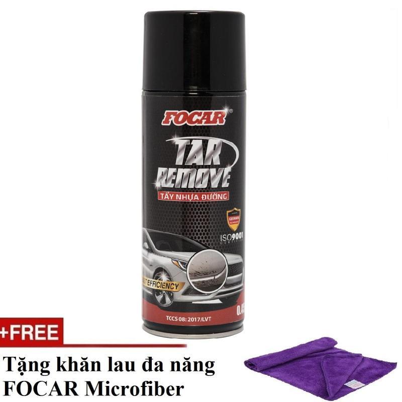 Dung dịch tẩy nhựa đường hắc ín FOCAR Tar Remover 450ml (Tặng khăn lau Microfiber)