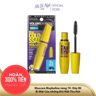 Mascara Maybeline vàng 7X- Dày Mi - Không lem không nhòe (Chính hãng - USA 100%) thumbnail