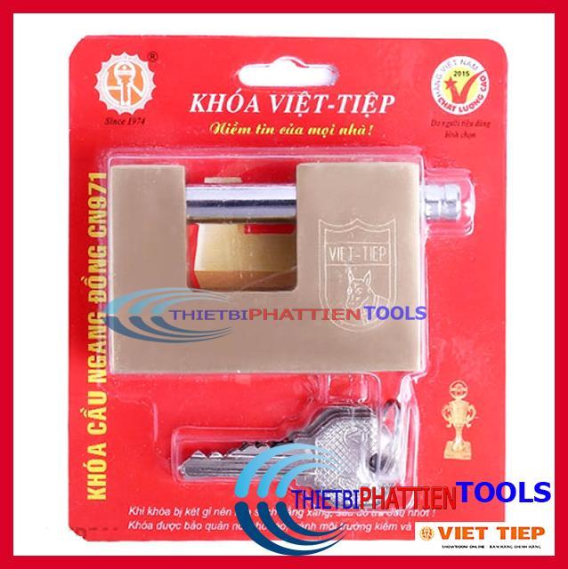 Ổ Khóa Cửa Cầu Ngang Việt Tiệp Đồng CN971 (Hàng Chất Lượng Cao)
