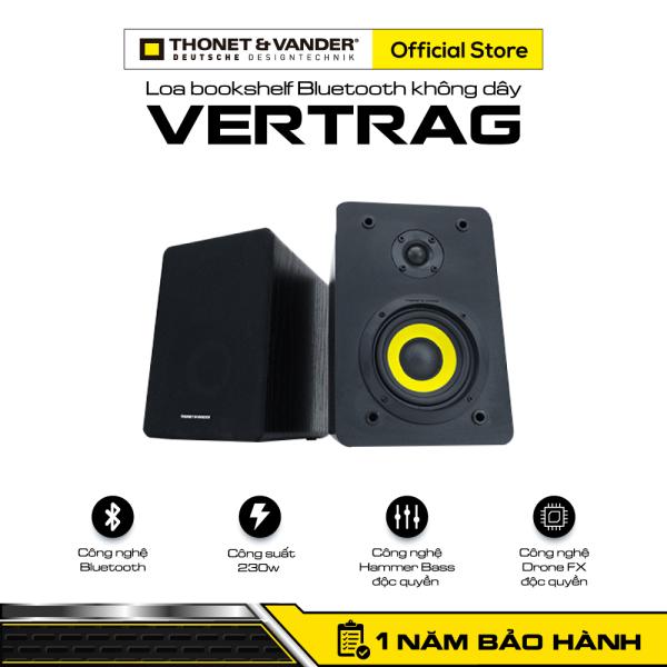 [HÀNG CHÍNH HÃNG ĐỨC] Loa bookshelf Bluetooth không dây THONET & VANDER VERTRAG   Công nghệ Bluetooth   Công suất 230w   Công nghệ Hammer Bass độc quyền   Công nghệ Drone FX độc quyền   Bảo hành chính hãng