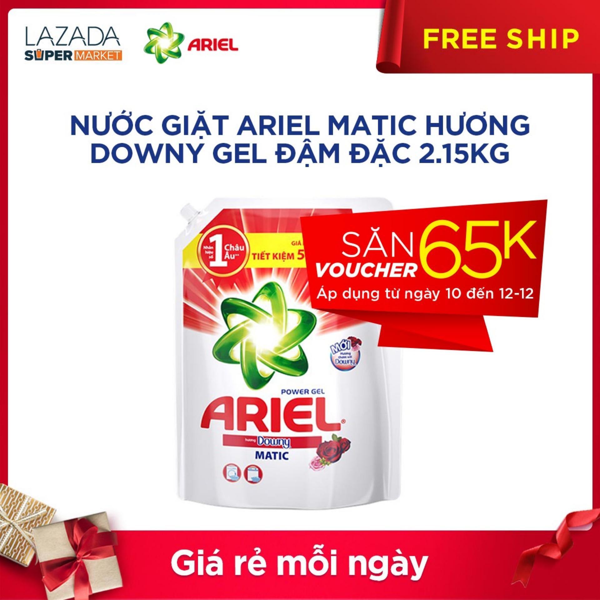 Hình ảnh Túi nước giặt Ariel Matic Hương Downy gel đậm đặc 2.15kg