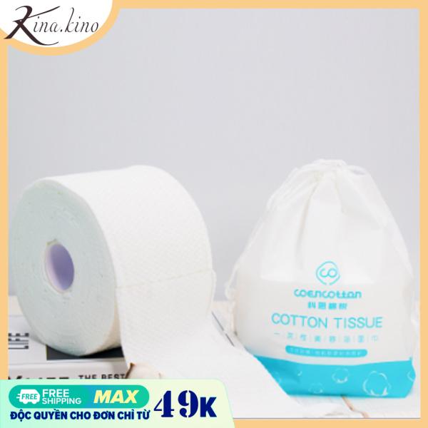 [3 kích thước] Bông tẩy trang tinh khiết cao cấp dạng cuộn có thể tháo dời - khăn mặt dùng một lần siêu mềm mại các spa hay tin dùng- KinaKino phukienlamdep