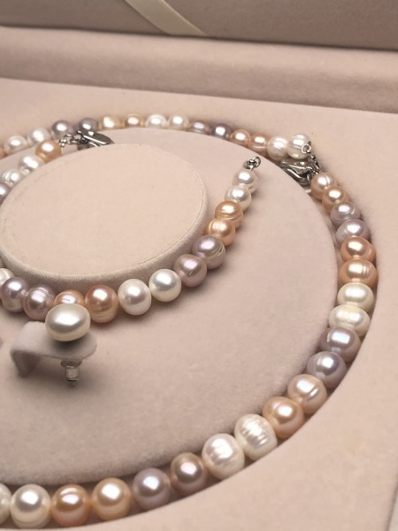 Bộ trang sức Ngọc trai thiên nhiên 8-9mm