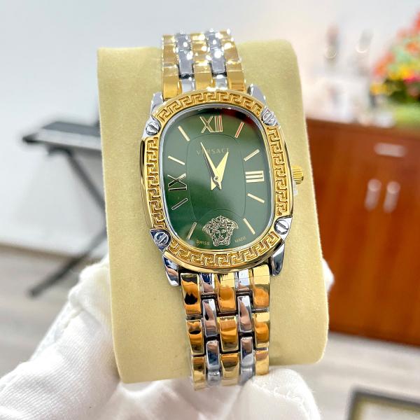 Nơi bán Đồng hồ nữ Versace dây thép đặc sang trọng màu xanh biếc ( Có video chi tiết sản phẩm )