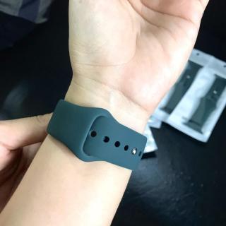 Dây đeo cao su Apple Watch linh kiện màu xanh rêu 11 Pro Max thumbnail