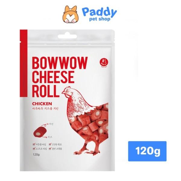 [HCM]Phô Mai Cuộn Thịt Gà Snack Cho Chó Bowwow Cheese Roll Chicken