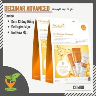 Combo 3 cho da mụn decumar advanced, decumar new Kem chống nắng - Sửa rửa mặt - Gel ngừa mụn thumbnail