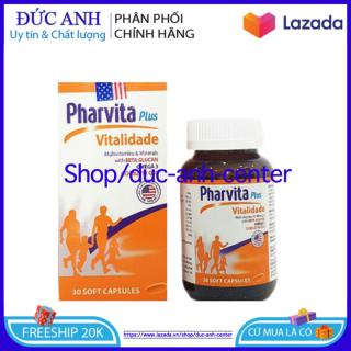 [HSD 2024] - DẠNG LỌ - Vitamin tổng hợp và khoáng chất Pharvita Plus bồi bổ cơ thể, tăng cường sức khỏe, tăng sức đề kháng - Hộp 100 viên thumbnail