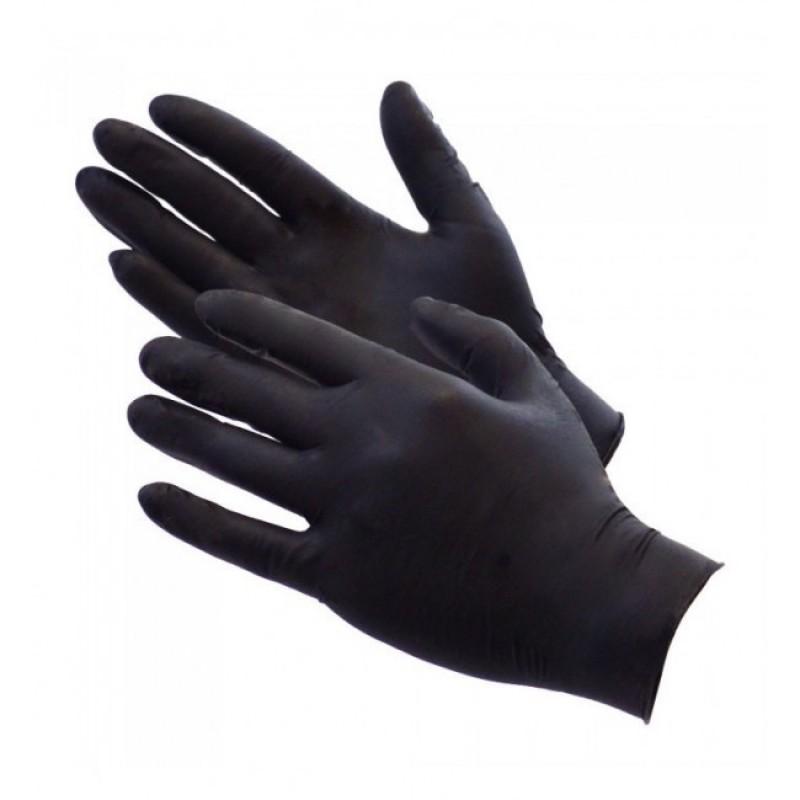 Găng tay y tế không bột màu đen Nitrile