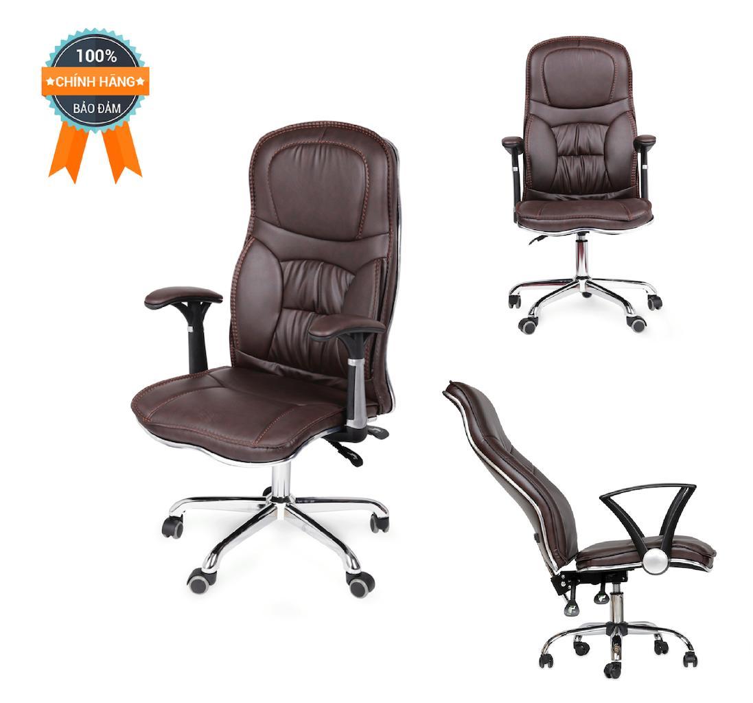 Ghế văn phòng ngả lưng thư giãn MN-HC20305-U (Đen/Nâu) giá rẻ