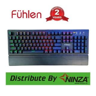 Bàn phím gaming Fuhlen E Eraser Mechanical Blue Switch Black KÊ TAY CÓ THỂ THÁO RỜI chính hãng bảo hành 2 năm thumbnail