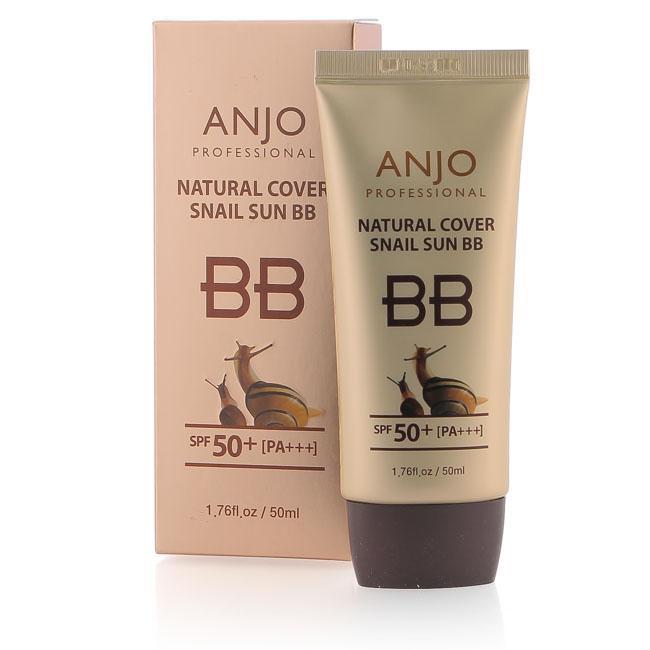 Kem chống nắng trang điểm từ ốc sên Anjo Natural Cover Snail Sun BB SPF50+ PA+++ 50ml - 9182 tốt nhất