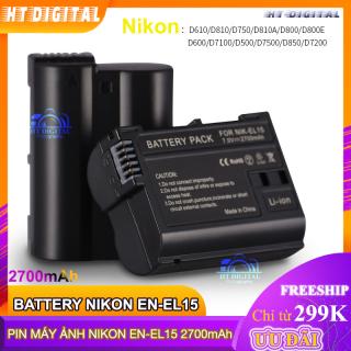Pin máy ảnh Nikon EN-EL15 2700Ah cho Nikon D7000 D7100 D800 D800E D600 D610 D810 D7200 V1 D500 thumbnail
