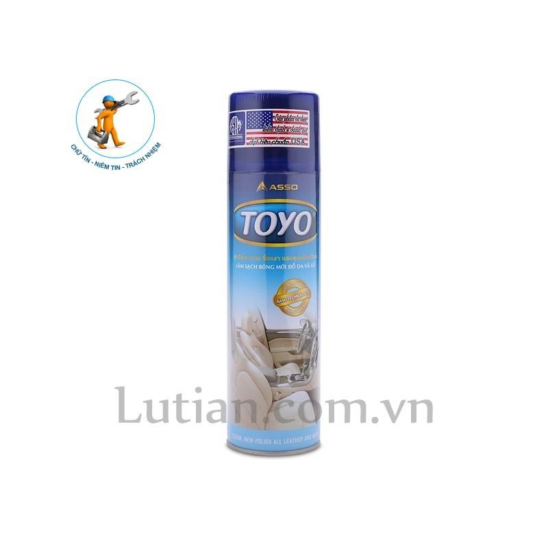 Chai xịt bóng đồ da và gỗ Toyo - 2 lọ