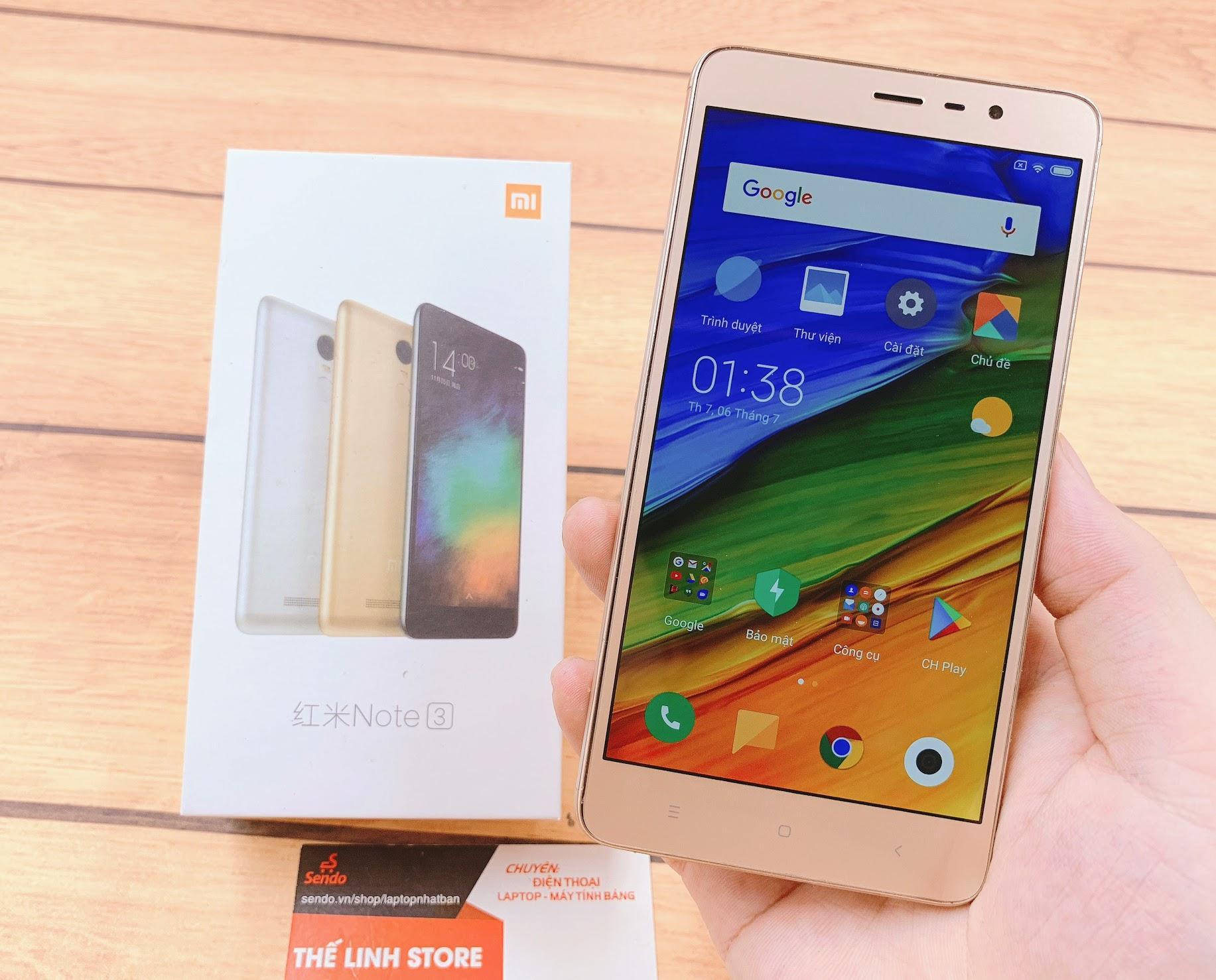 Điện Thoại Xiaomi Redmi Note 3 Chạy 2 Sim NGUYÊN HỘP - Chip Lõi 8 Vân Tay Với Giá Sốc