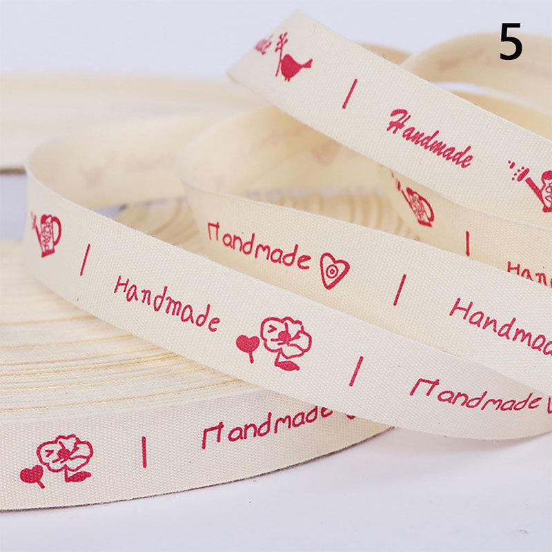 Qinkelai 5yards Printed Cotton Ribbon hand made Love Dog DIY Sewing Fabric Craft 15mm