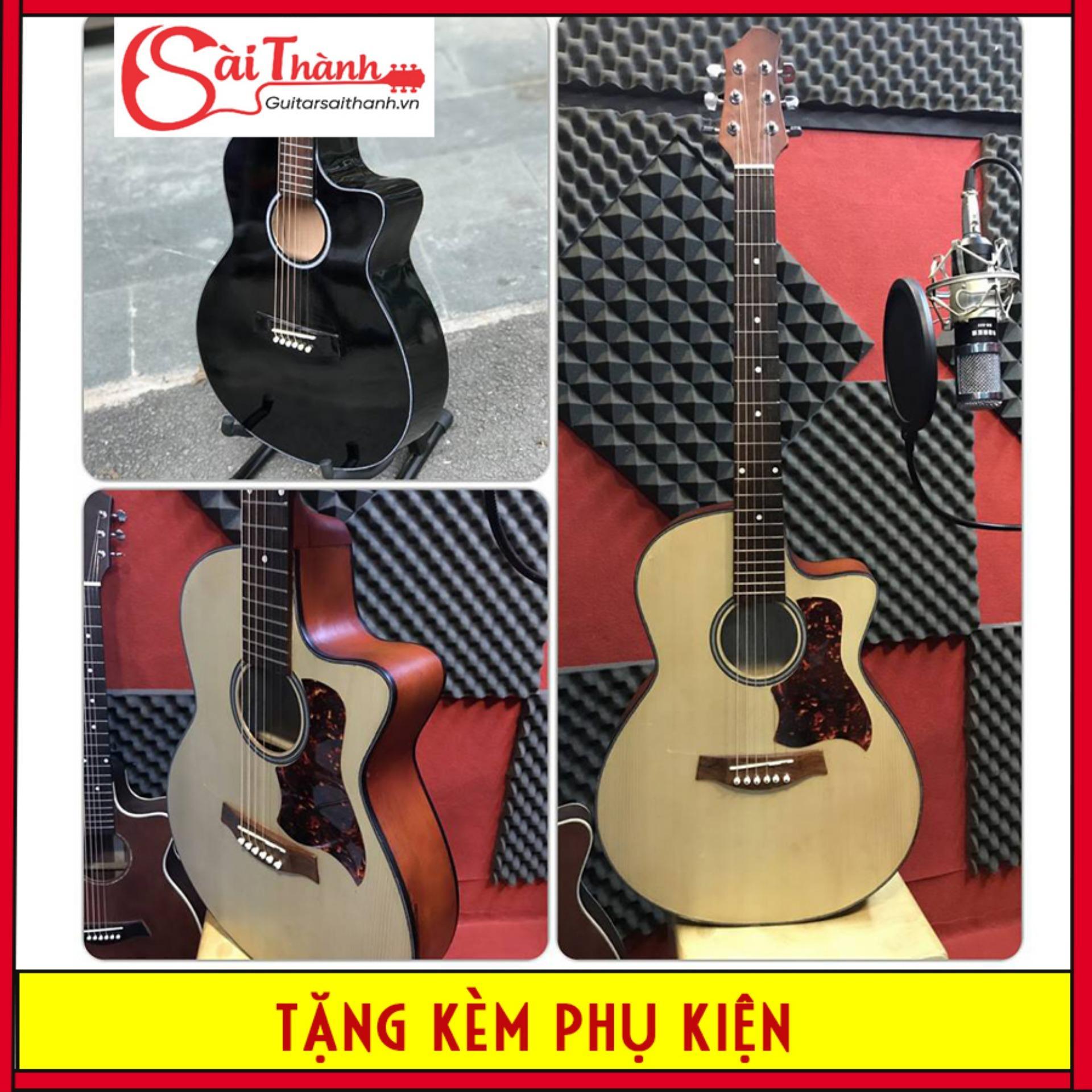Offer Giảm Giá Đàn Guitar Acoustic GVA23 Cho Người Mới Tập Chơi - Tặng Kèm BAO ĐỰNG ĐÀN + GIÁO TRÌNH HỌC ĐÀN + PICK GÃY + DÂY SƠ CUA