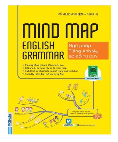 Mindmap English Grammar - Ngữ Pháp Tiếng Anh Bằng Sơ Đồ Tư Duy ( tặng kèm bookmark)