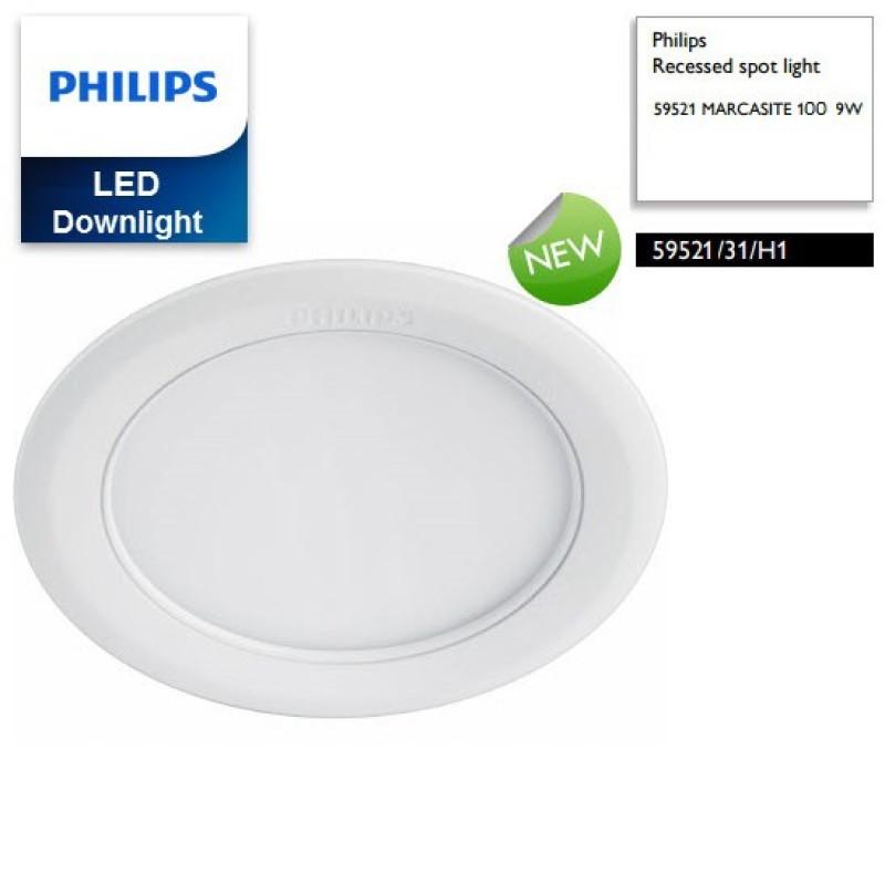 COMBO 10 BỘ ĐÈN LED ÂM TRẦN 9W PHILIPS 59521 DẠNG TRÒN LỖ CẮT 100
