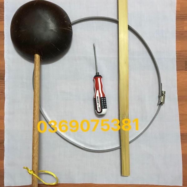 Bộ dụng cụ tráng bánh cuốn đầy đủ gáo, vải, dây inox, đũa lấy bánh