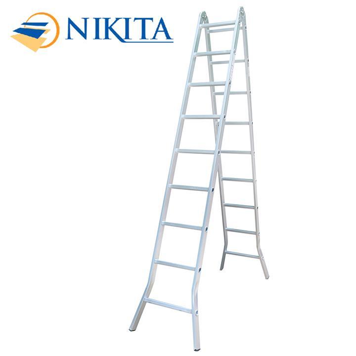 Thang nhôm chữ A 3m ( Duỗi thẳng 6m ) Nikita NIK30 Nhật Bản