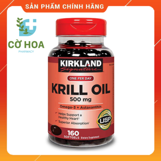 Dầu nhuyễn thể Kirkland Signature Krill Oil 500 mg - Hộp 160 viên thumbnail