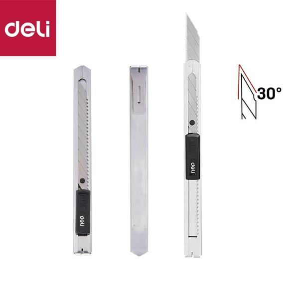 Mua Dao rọc giấy nhỏ lưỡi nhọn 30 độ - vỏ thép không rỉ Deli   dài 142mm x rộng 9mm x dày 0.4mm,chất lượng cao,cực bền,bén.