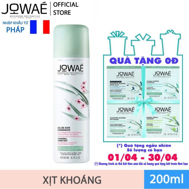 Xịt Dưỡng Hoa Anh Đào JOWAE tinh chất chống lão hóa Lumiphenol Mỹ phẩm thiên nhiên nhập khẩu từ Pháp HYDRATING WATER MIST 200ml cao cấp