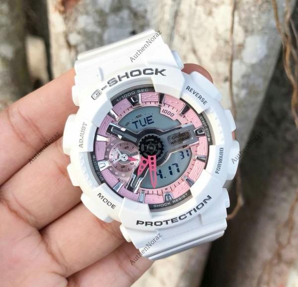 Đồng hồ G-Shock GMAS110-7A Trắng hồng thể thao nam nữ + Tặng kèm pin + Bảo hành 6 tháng bán chạy