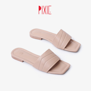 Dép Nữ Mũi Vuông Bản Ngang Pixie X745 thumbnail